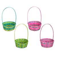 Oval - Bamboo Easter Basket 11in