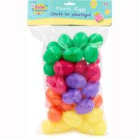 Easter Treasures - Plastic Neon Eggs, 48 Each