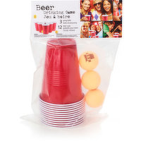 Fun game for get togethers. Includes: 12 (16 oz) cups & 3 pong balls.