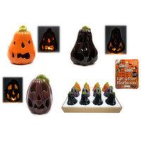 LED - Ceramic Light Up Pumpkin