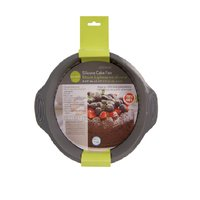 L Gourmet - Silicone Cake Pan- 9in, 1 Each