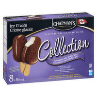 Chapman's - Ice Cream Bars - Almonds & Milk Chocolate, 8 Each