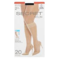 Secret - Knee Highs - Black, 2 Each