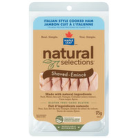 Natural Selections - Italian Style Cooked Ham- Shaved