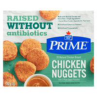 Made with real, simple ingredients & natural chicken breasts that are raised without antibiotics. Each nugget is breaded with seasoned, toasted wheat crumbs, lightly browned in vegetable oil and carefully frozen to seal in the flavor. Cook thoroughly at home and serve.