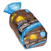 Made with a whole grain & protein blend. 15g whole grains, 2g fibre & 6g protein. Time to make it grain! Baked in Canada.