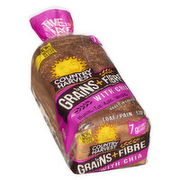 Made with the goodness of chia seeds. 15g whole grains, 7g fibre & 4g protein. Baked in Canada. Time to make it grain!