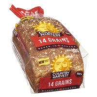 Made with more grains, this bread is hearty & will keep you satisfied until the next meal. 23g whole grains, 3g fibre, 5g protein & 0.4g omega-3. Made in Canada. No artificial colors or flavors.