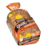 Baked in Canada. Contains 12 Essential Nutrients. 19g Whole Grains, 3g Fibre, 5g Protein per Slice.