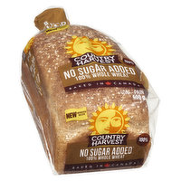 Country Harvest - Bread 100% Whole Wheat, No Sugar Added, 600 Gram