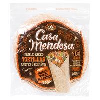 Casa Mendosa Casa Mendosa - Triple Baked Tortillas Whole Wheat Large, 10 Each