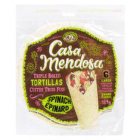 6 soft flour spinach Tortillas  384g