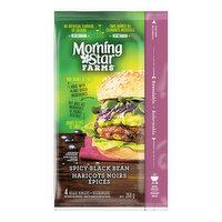 Morning Star Farms - Veggie Burger - Spicy Black Bean, 4 Pack, 4 Each