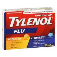 Tylenol Tylenol - Flu eZtabs Extra Strength Day/Night Tablets, 20 Each