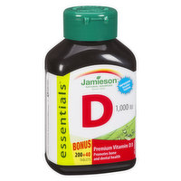 Premium Vitamin D3 Promotes Bone, Dental Health.