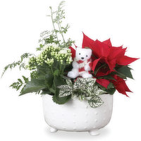 Shelly - Ceramic Footed Holiday Planter, 1 Each