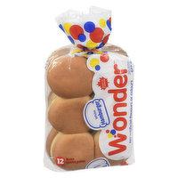 Wonder - White Hamburger Buns, 12 Each