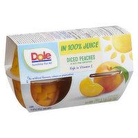 Dole Dole - Diced Peaches Fruit Cups, 4 Each
