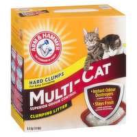 Multi-Cat Clumping Litter. Activated Baking Soda Crystals. Fresh Scent. Hard Clumps for Easy Scooping.