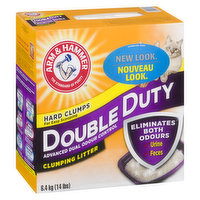 Double Duty Clumping Advanced Odour Control Clumping Litter. Eliminates Odours. Hard Clumps for Easy Scooping.