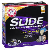 Litter Slides Right Out. Doesn't Stick to Pan. No Scrubbing. Clump & Seal 7 Day Odour Free Guaranteed. For Multi Cat.