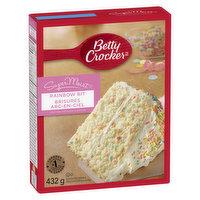 Betty Crocker - Super Moist Rainbow Bit Cake Mix, 432 Gram