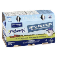 2 x 250mL Containers. 100% Pure Liquid Egg Whites. Fat Free & Cholesterol Free.
