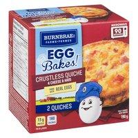 Burnbrae Farms - Egg Bakes! Crustless Quiche - 4 Cheese & Ham, 2 Each