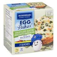 Burnbrae Farms - Egg Bakes! Crustless Quiche - Spinach, Ricotta, 190 Gram