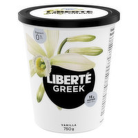 Liberte Liberte - Greek Yogourt - Vanilla 0% M.F., 750 Gram