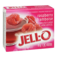 Raspberry Flavoured Jelly Powder. 4 Servings per Package.