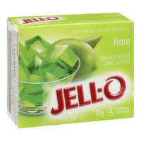 Lime Flavoured Jelly Powder. 4 Servings per Package.