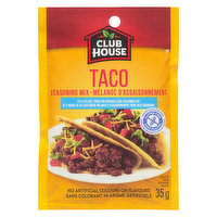 Club House - Taco Seasoning Mix 25% Less Salt, 35 Gram