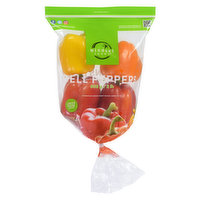 Gourmet Pack of Yellow, Red Orange and Green Bell Peppers. Colors may Vary by Season.  Mexico. Approx 8 Peppers per Bag.