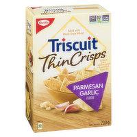 Christie - Triscuit Thins Crisps Garlic Parmesan, 200 Gram
