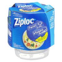 Ziploc Ziploc - Twist n Loc Round Small Containers, 3 Each