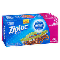 Ziploc - Easy Open Tabs Snack Bags, 90 Each