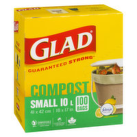 Glad - Open Top Compostable Small Bags Odor Shield, 100 Each