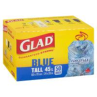 Glad Glad - ForceFlex Blue Recycling Bags - Tall, 50 Each