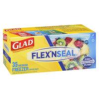 Glad Glad - Flex N Seal Medium Freezer Zipper Bags, 35 Each