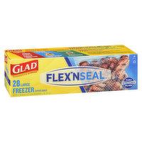 Glad Glad - Flex N Seal Large Freezer Zipper Bags, 28 Each