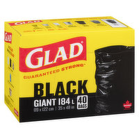 Glad - Garbage Bags - Giant, 40 Each