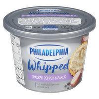Kraft Philadelphia - Bold Whipped Cream Cheese - Cracked Pepper/Garlic, 227 Gram