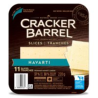 Cracker Barrel Cracker Barrel - Havarti Cheese Slices, 220 Gram