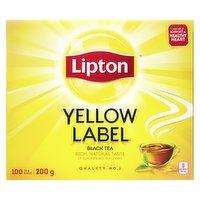Lipton - Yellow Label Black Tea, 100 Each