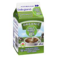 Dairyland Dairyland - Organic Half & Half Cream 10% M.F., 473 Millilitre