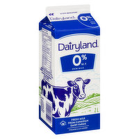 Dairyland - Skim Milk Fat Free, 2 Litre