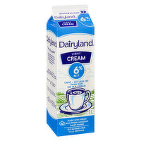 40% Less Fat Than Dairyland 6% M.F. Cream. Perfect for those who enjoy the rich, creamy taste of Dairyland cream in their coffee or recipes with a little less fat.
