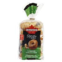 Dempsters Dempsters - Parmesan Garlic & Herb Bagels, 5 Each