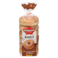 Dempster's Dempster's - 100% Whole Wheat Bagels, 6 Each